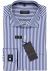 Eterna Comfort Fit overhemd, mouwlengte 7, blauw met wit gestreept (contrast)