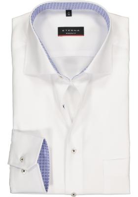 Eterna Modern Fit overhemd, mouwlengte 7, wit structuur (contrast)