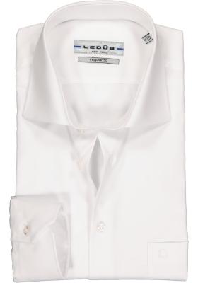 Ledub regular fit overhemd, wit twill