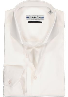 Ledub modern fit overhemd, wit stretch
