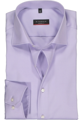 ETERNA modern fit overhemd, niet doorschijnend twill heren overhemd, lila