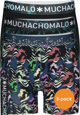 Muchachomalo boxershorts (3-pack), heren boxers normale lengte, Women print met zwart