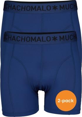 Muchchomalo microfiber boxershorts (2-pack), heren boxers normale lengte, blauw