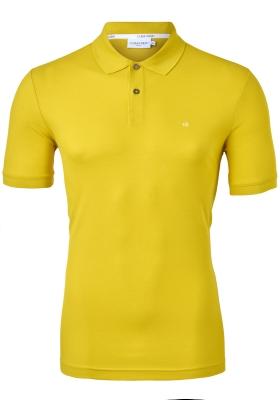 Calvin Klein Slim Polo Pique, geel, sulphur