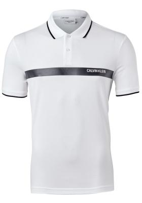 Calvin Klein bold stripe logo polo, wit met zwart