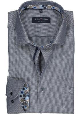 Casa Moda Comfort Fit overhemd, blauw structuur (contrast)