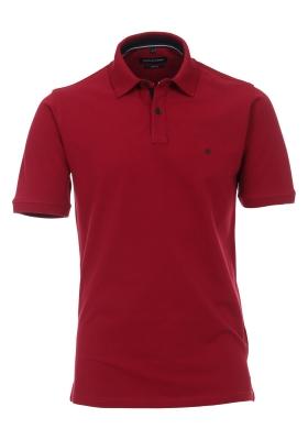 Casa Moda Comfort Fit poloshirt stretch, bordeaux rood