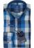 Redmond heren overhemd Regular Fit, blauw geruit (contrast)