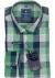 Redmond heren overhemd Regular Fit, groen met blauw geruit (contrast)