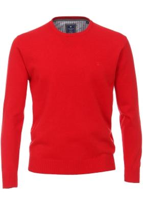 Redmond heren trui katoen O-hals, rood