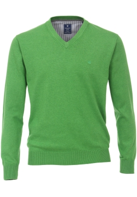 Redmond heren trui katoen V-hals, groen