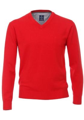 Redmond heren trui katoen V-hals, rood