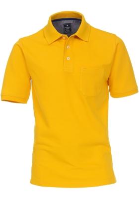 Redmond Regular Fit poloshirt, geel