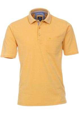 Redmond regular fit poloshirt, geel melange