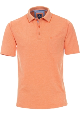 Redmond Regular Fit poloshirt, oranje melange