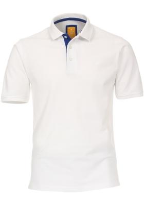 Redmond modern fit poloshirt, wit (blauw contrast)