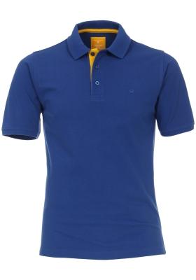 Redmond Modern Fit poloshirt, blauw (geel contrast)