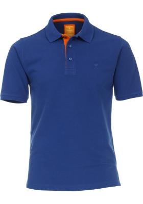 Redmond Modern Fit poloshirt, blauw (oranje contrast)