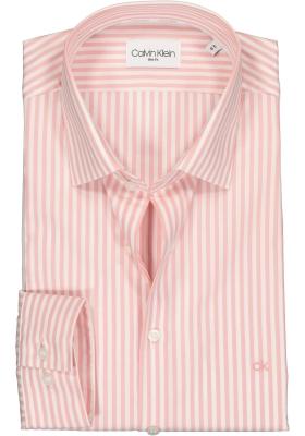 Calvin Klein Slim Fit overhemd, roze met wit gestreept