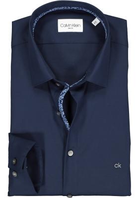 Calvin Klein Slim Fit overhemd, donkerblauw (contrast)