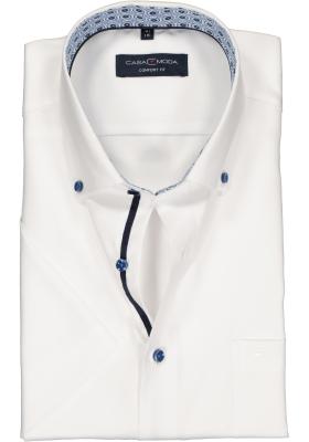 Casa Moda Comfort Fit overhemd, korte mouw, wit (contrast)