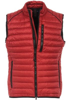 CASA MODA comfort fit bodywarmer (middeldik), rood met zwarte ritsen