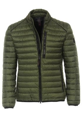 CASA MODA comfort fit jas (middeldik), army groen met zwarte ritsen