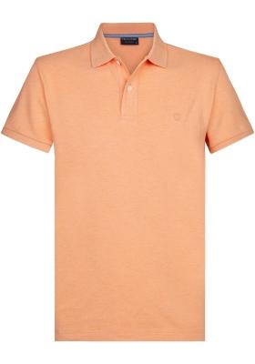 Profuomo Slim Fit  polo, licht oranje