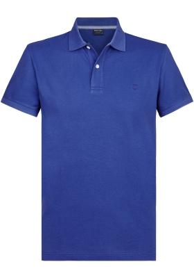Profuomo Slim Fit  polo, kobalt blauw