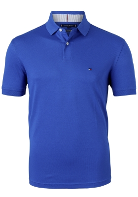 Tommy Hilfiger 1985 Regular Fit polo, kobalt blauw, Bio Blue