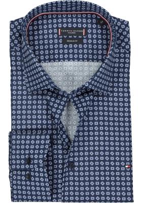 Tommy Hilfiger Regular Fit overhemd, donkerblauw dessin