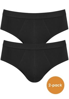 Sloggi Men 24/7 Midi, heren slips (2-pack), zwart