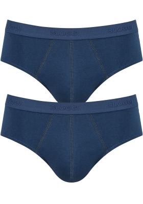 Sloggi Men 24/7 Midi, heren slips (2-pack), blauw