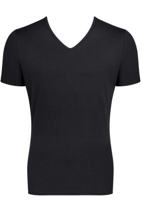 Sloggi Men GO Shirt V-Neck Slim Fit, heren T-shirt (1-pack), zwart