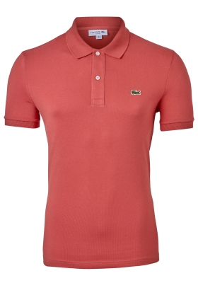 Lacoste Slim Fit polo, roze-rood