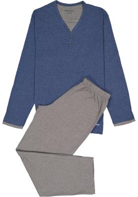 Ceceba heren pyjama, blauw met grijs