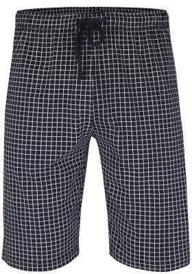 Ceceba heren pyjamabroek kort, donkerblauw met wit geruit