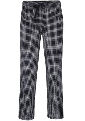 Ceceba heren pyjamabroek lang, donkerblauw met wit geruit