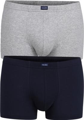 Ceceba heren boxers (2-pack), grijs en donkerblauw