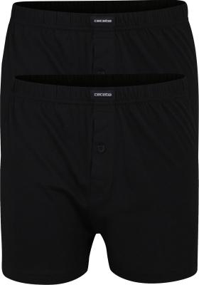 Ceceba heren boxershorts wijd (2-pack), zwart