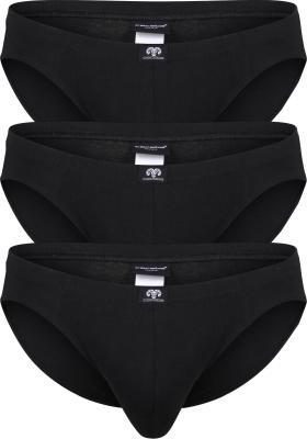 Ceceba heren slips buikmodel (3-pack), zwart