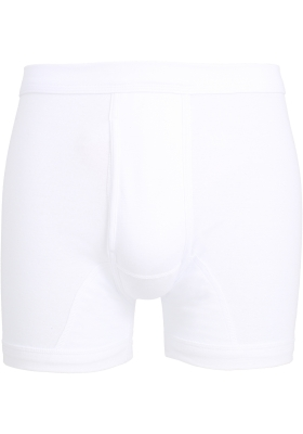 Ceceba heren boxer met gulp (1-pack), fijnrib, wit