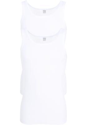 Ceceba heren singlets fijnrib regular fit (2-pack), wit