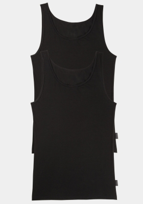 Sloggi Men 24/7 Vest, heren singlets (2-pack), zwart