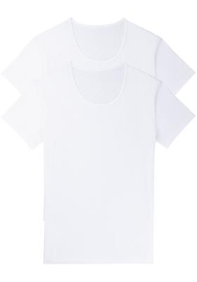 Sloggi Men 24/7 Shirt O-hals, heren T-shirts (2-pack), wit