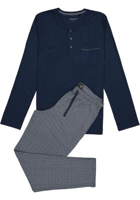 Schiesser heren pyjama, donkerblauw