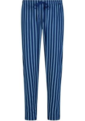 Mey pyjamabroek lang, Cranbourne, blauw met grijs gestreept