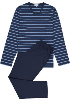 Mey heren pyjama Stratford, blauw gestreept