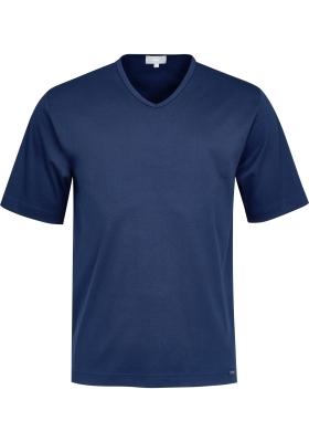 Mey pyjamashirt korte mouw, Melton, donkerblauw