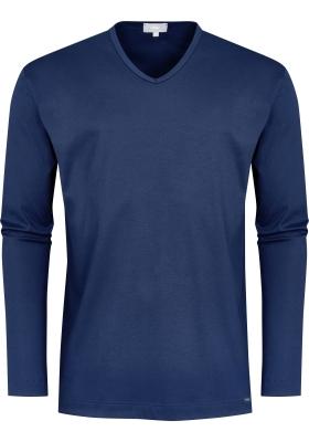 Mey pyjamashirt lange mouw, Melton, donkerblauw